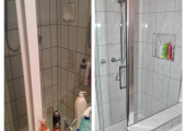 Shower renovations before & after
